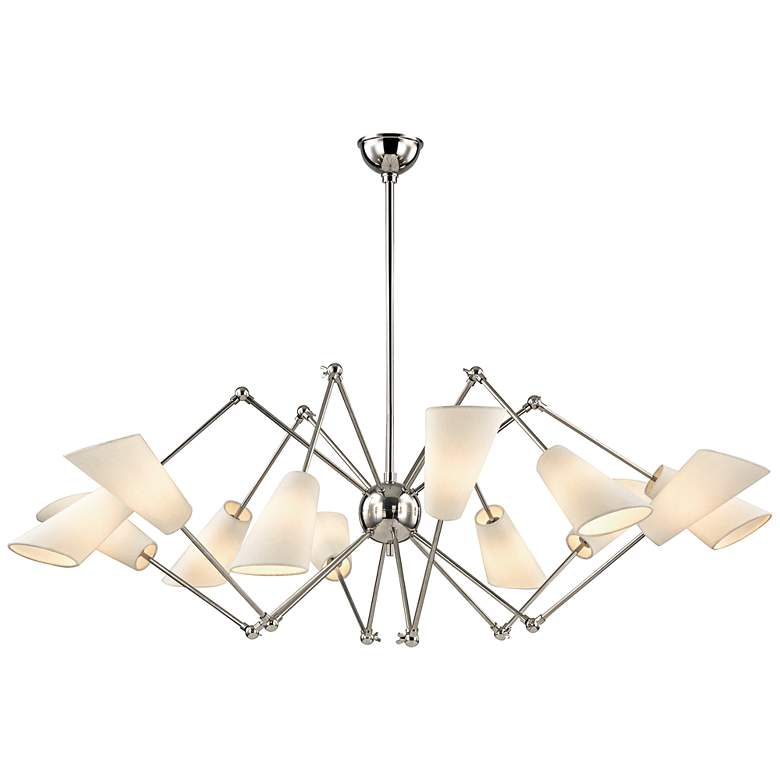 "Hudson Valley Buckingham 54""W Polished Nickel Chandelier"