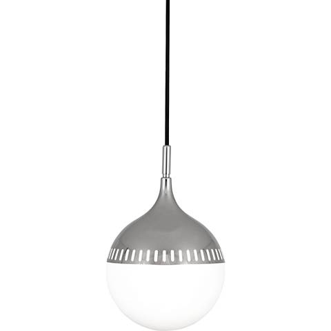 "Jonathan Adler Rio 8"" Wide Polished Nickel Mini Pendant"