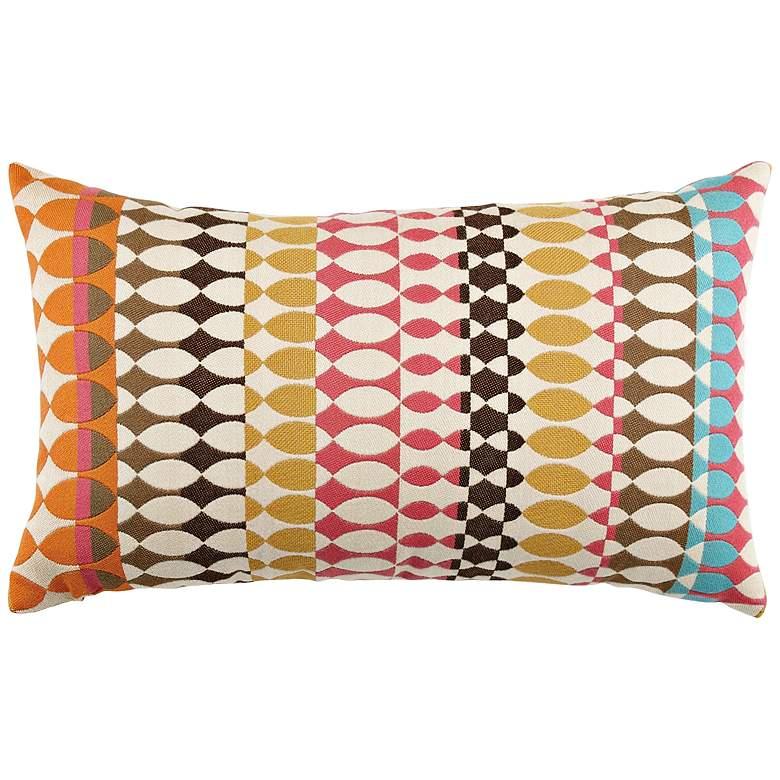 "Modern Oval Candy 20""x12"" Lumbar Indoor-Outdoor Pillow"