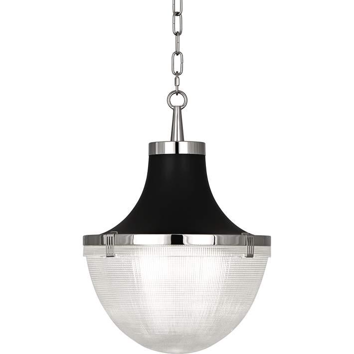 Brighton 13 W Polished Nickel And Matte Black Pendant Light 9w723 Lamps Plus