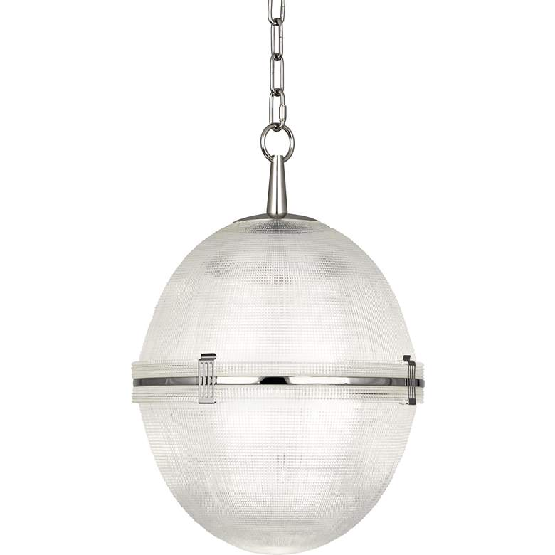 "Brighton 13"" Wide Polished Nickel Ball Pendant Light"