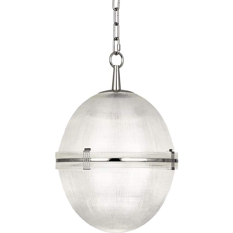 "Brighton 13"" Wide Polished Nickel Ball Pendant Light"