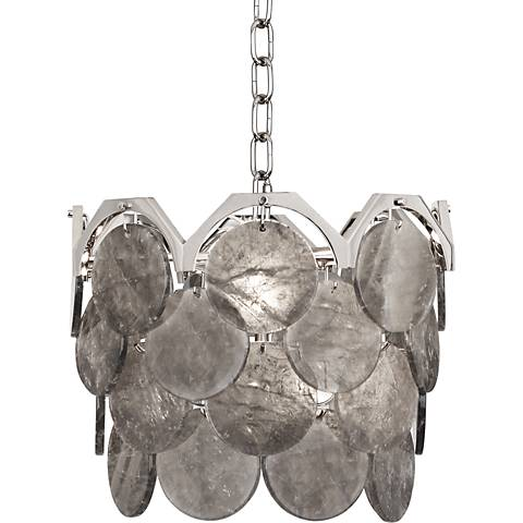 "Robert Abbey Hope 13 3/4""W Polished Nickel Pendant Light"