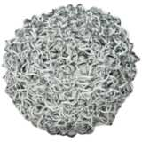 "Teslyn 5"" Wide Silver Iron Large Wire Ball"
