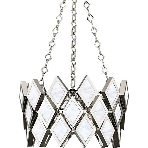 "Robert Abbey Edward 17 3/4""W Polished Nickel Pendant Light"