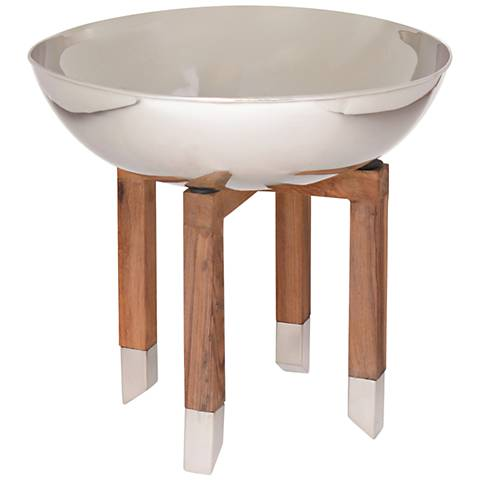 Maison Home Parsons Wood and Polished Nickel Bowl