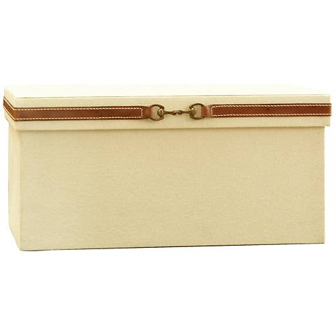 Stirrup Canvas and Brown Leather Large Storage Box