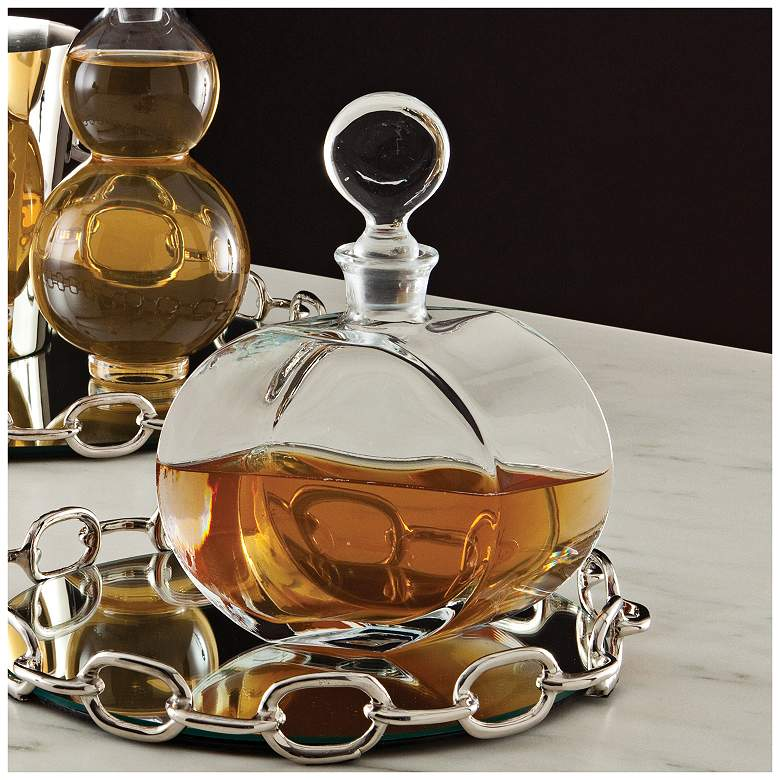 "Hestand 10"" High Clear Glass Decanter"