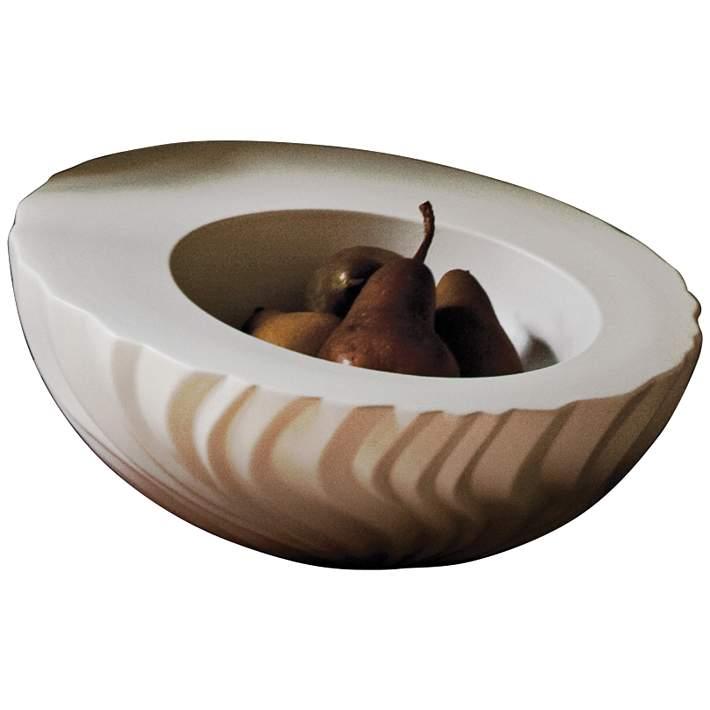 Magura 13 Wide Snow White Modern Ceramic Bowl 9w925 Lamps Plus