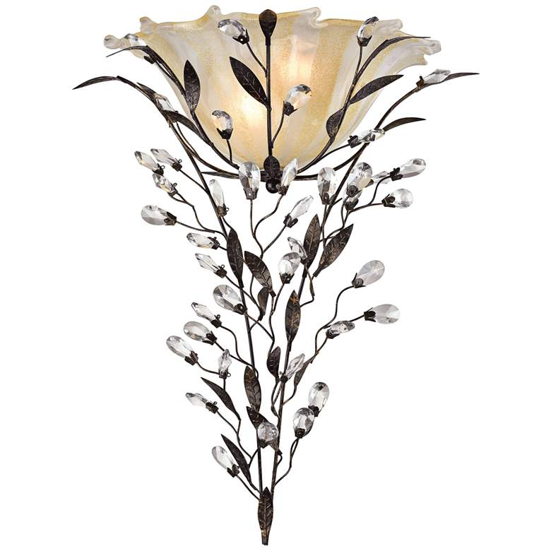 """Circeo 22"""" High Crystal Flower Wall Sconce by Elk Lighting"""