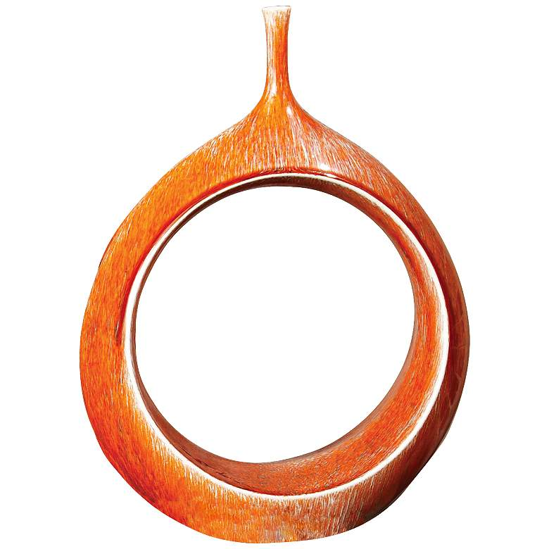 "Citrano Orange 15 3/4"" High Open Ring Modern"