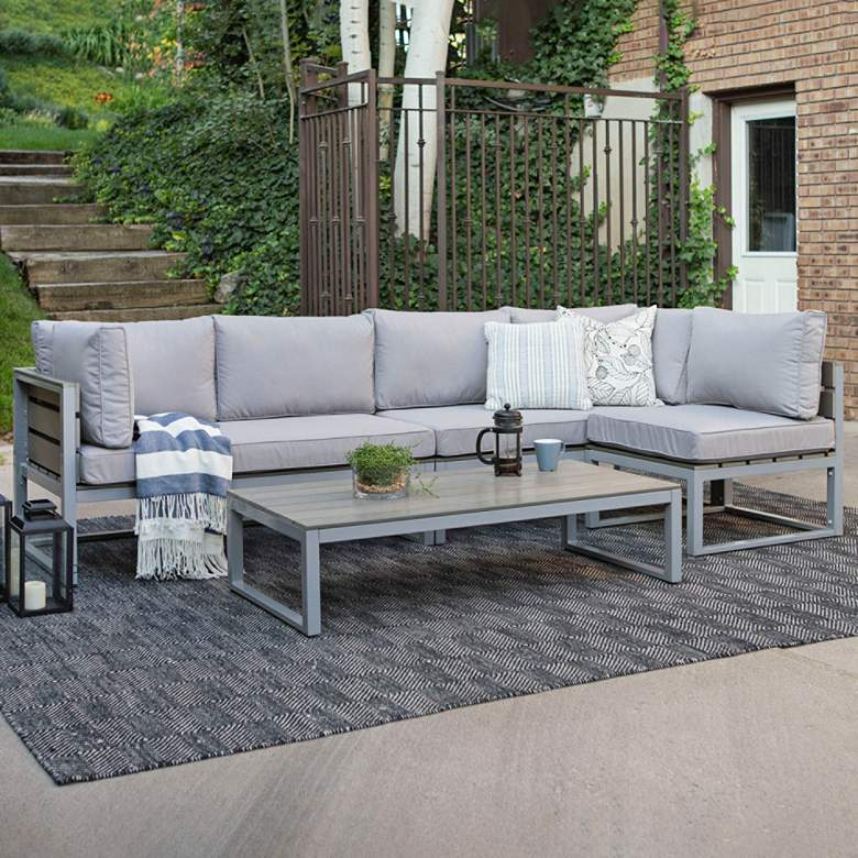 Vasara Gray All-Weather 4-Piece Outdoor Seating Patio Set