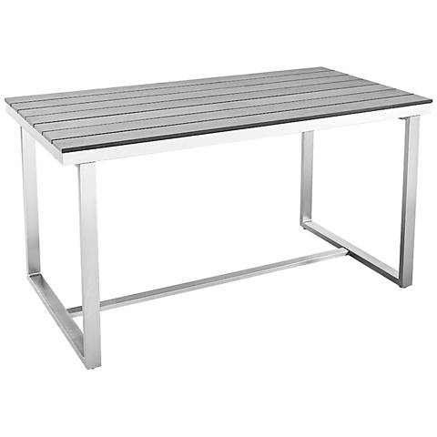 Vasara Gray All-Weather Outdoor Patio Dining Table