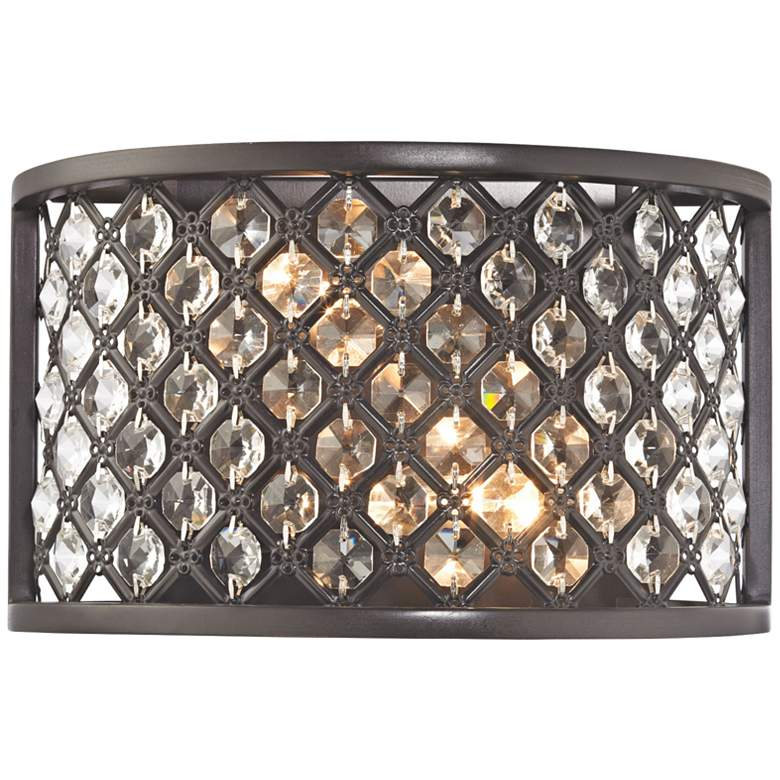 """Genevieve 6"""" High Oil Rubbed Bronze 2-Light Wall Sconce"""