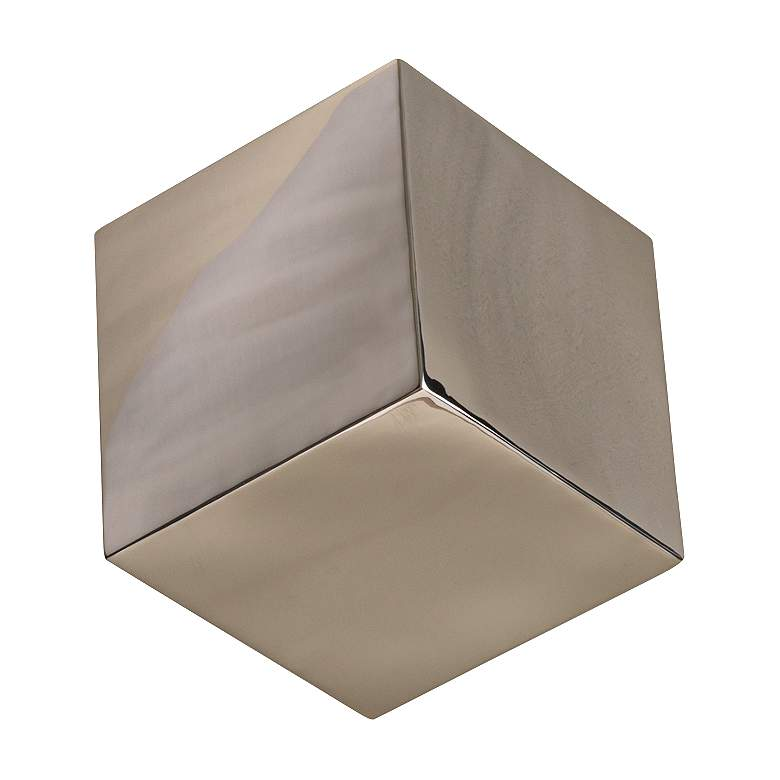 Tumbling Block Nickel Stainless Steel Wall Cube