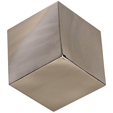 Tumbling Block Nickel Stainless Steel Wall Cube