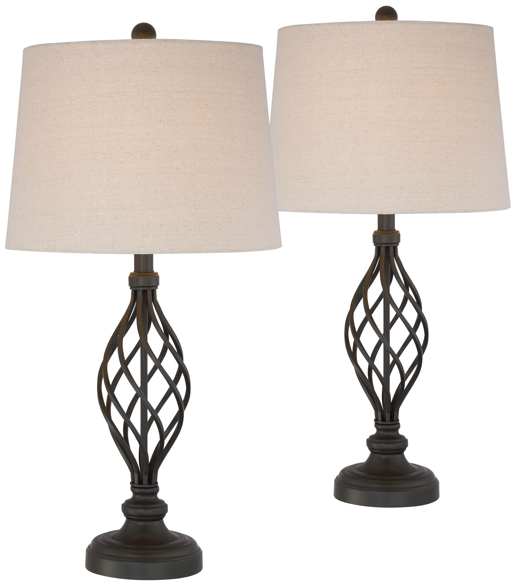 Charming Annie Iron Scroll Table Lamps Set Of 2