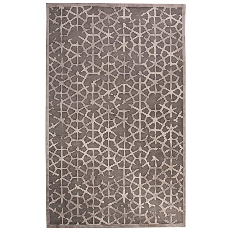 Jaipur Fables RUG128798 2'x3' Gray Tribal Rectangle Area