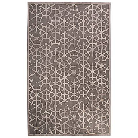 Jaipur Fables RUG128798 2'x3' Gray Tribal Rectangle Area Rug