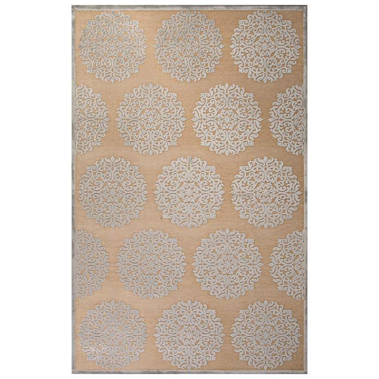 Jaipur Fables RUG128762 2'x3' Ivory Medallion Rectangle Area