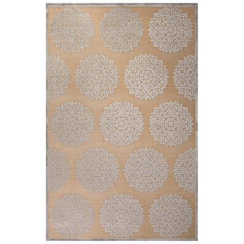 Jaipur Fables RUG128762 2'x3' Ivory Medallion Rectangle Area Rug