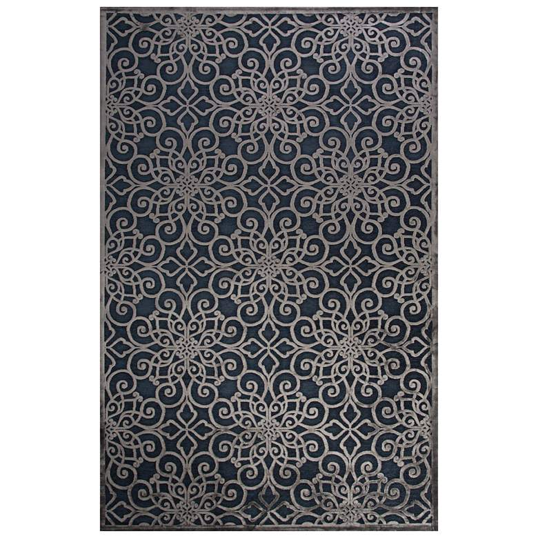 Jaipur Fables RUG128730 2'x3' Blue Chain Rectangle Area