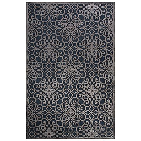 Jaipur Fables RUG128730 2'x3' Blue Chain Rectangle Area Rug