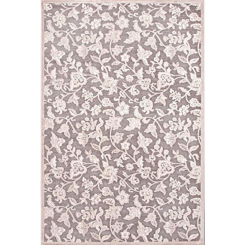 Jaipur Fables RUG111913 2'x3' Gray Modern Floral Area