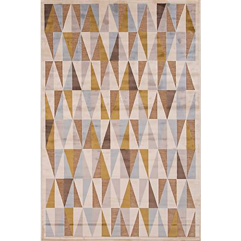 Jaipur Fables RUG111912 Taupe Tribal Area Rug