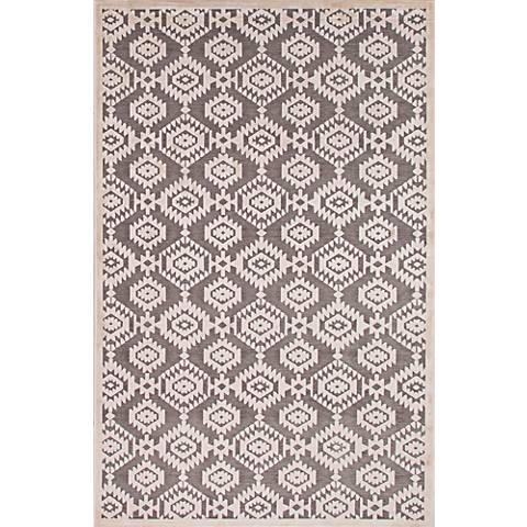 Jaipur Fables RUG121768 2'x3' Gray Modern Tribal Area Rug