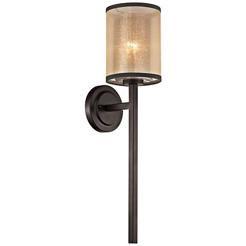 """Diffusion 24"""" High Oil Rubbed Bronze 1-Light Wall Sconce"""