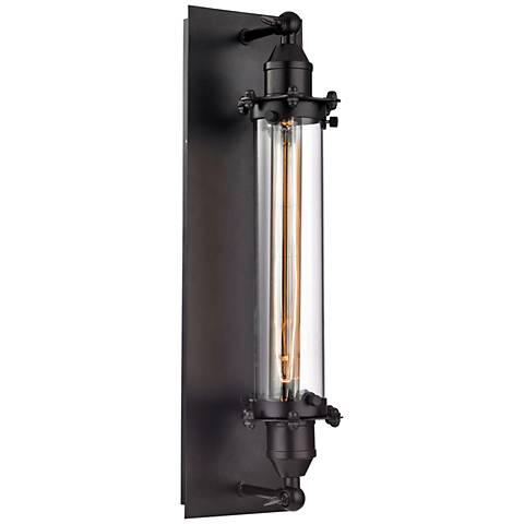 """Fulton 19"""" High Oil Rubbed Bronze 1-Light Wall Sconce"""