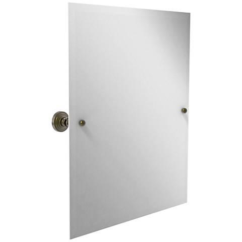 "Waverly Place Antique Brass 21 3/4"" x 25"" Vanity Mirror"