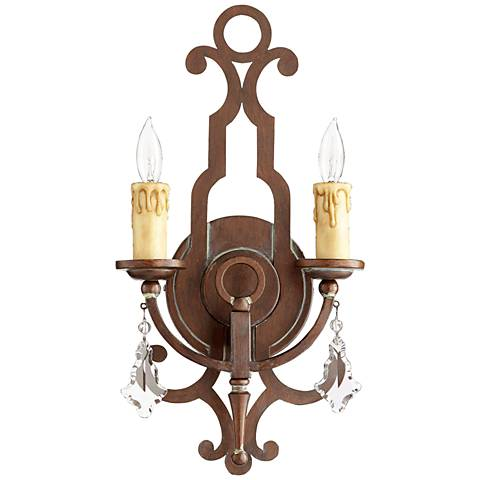 """Quorum Montgomery 19""""H Vintage Copper 2-Light Wall Sconce"""