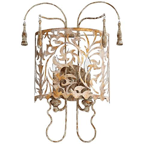 "Quorum Leduc 20 1/2"" High Florentine Gold Wall Sconce"