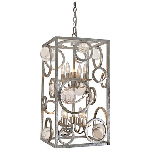 "Van Teal Free Wheeling 14"" Wide Silver Leaf Pendant Light"