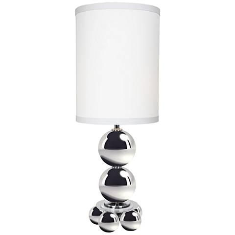 My World Sleek Chrome Metal Tall Table Lamp