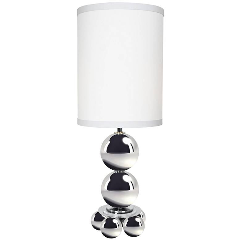 My World Sleek Chrome Metal Tall Table Lamp