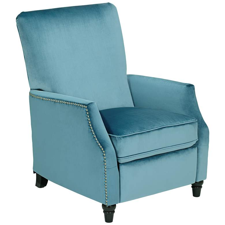 Magnificent Katy Turquoise Velvet Push Back Recliner Chair Creativecarmelina Interior Chair Design Creativecarmelinacom