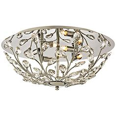 "Crystique 17"" Wide Polished Chrome 4-Light Ceiling Light"