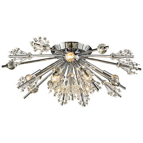 "Starburst 26"" Wide Polished Chrome 8-Light Ceiling Light"
