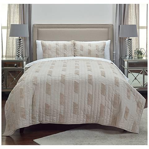 Colton Vertical Textured Stripe Quilt