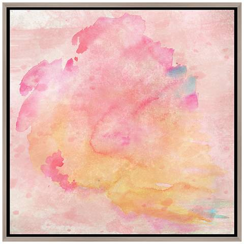 "Watercolor in Spring 37 3/4"" Square Canvas Wall Art"