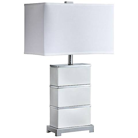 Raury White Ceramic Table Lamp