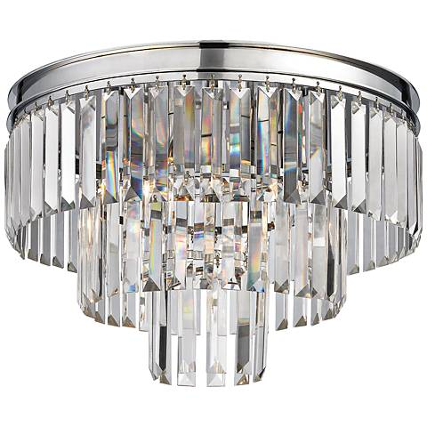 "Palacial 19"" Wide Polished Chrome 3-Light Ceiling Light"