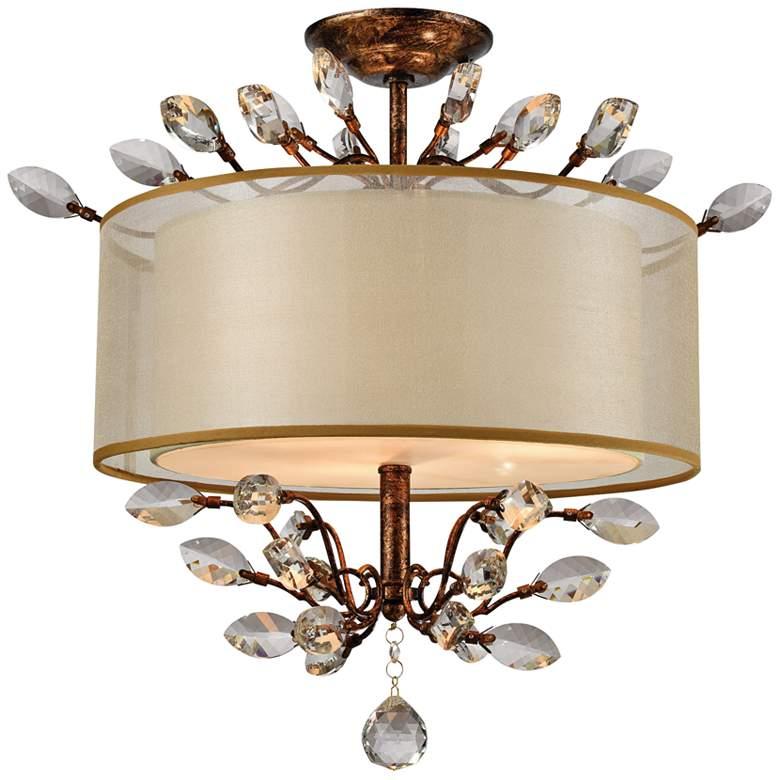 "Asbury 19"" Wide Spanish Bronze 3-Light Ceiling Light"