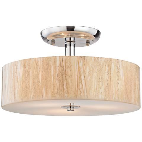 "Modern Organics 14""W Polished Chrome 3-Light Ceiling Light"