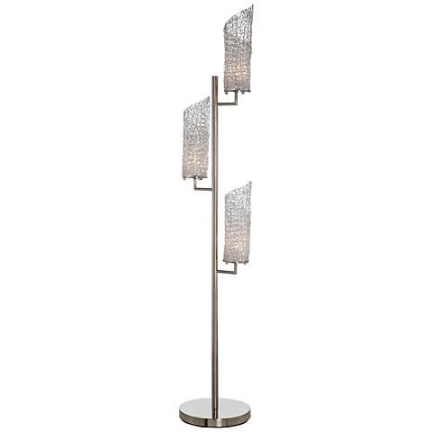 Scalza Satin Chrome 3-Light Floor Lamp