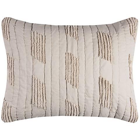 Colton Vertical Textured Stripe Quilted Standard Pillow Sham
