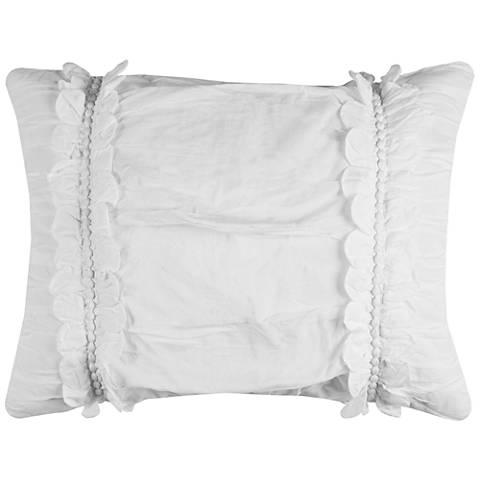 Clementine White Textured Standard Pillow Sham